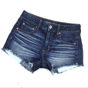 American Eagle Hi Rise Festival Denim Jean Shorts
